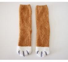 Носки Кошачьи лапки рыжие
