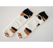 Носки Кошачьи лапки трехцветные